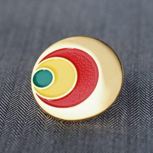金メッキ ラッカー着色 ピンバッジ サンプル画像 サンプル制作